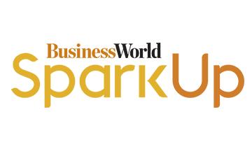 Business world spark up logo